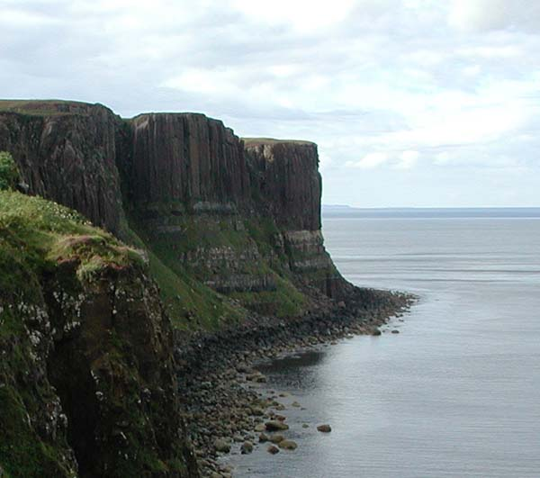 Looks like the pleats in a kilt so it is called Kilt Rock.