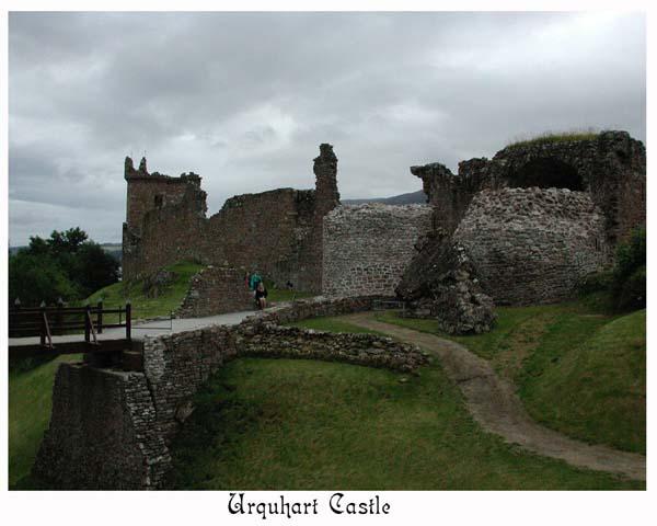 Urquhart Castle built circa 1230.