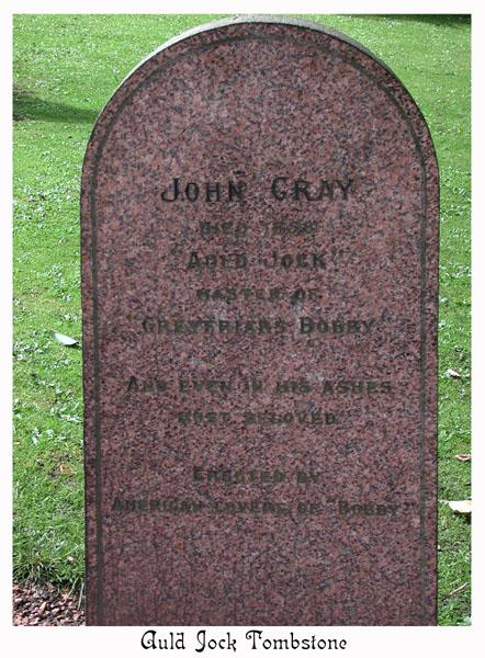 Bobby's owner, Auld (old) Jock's gravestone