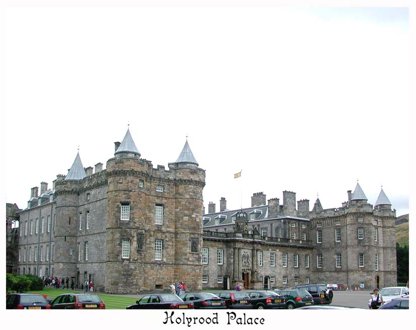 Holyrood Palace, official residence of the royal family when visiting Scotland.