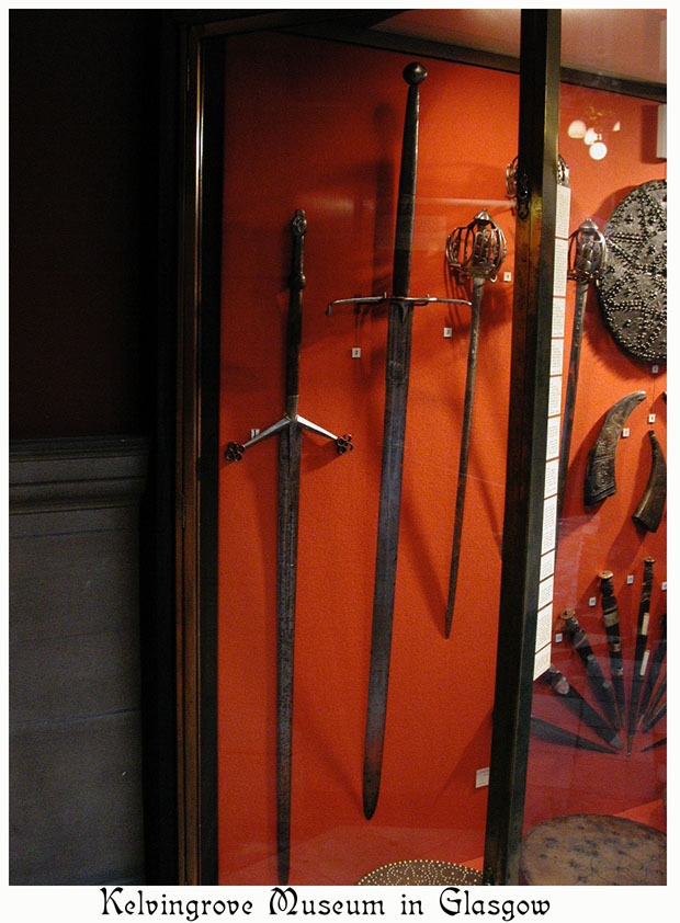 The sword on the left is the famed Claymore