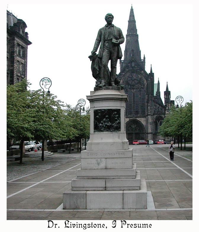 Statue of the famous explorer, David Livingston